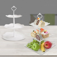 3 Tiers Fruit Tray Dessert Tower Wedding Party Cake Stand