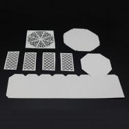 Metal Cutting Dies Set Hollow Design Embossing Template DIY Gift Box Stencil