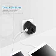 International Multifunctional Dual USB Travel Charger Adapter