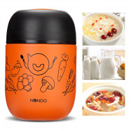 NONOO Food Vacuum Thermos with Folding Spoon 460ml