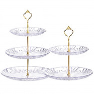 2 Tiers 3 Tiers Fruit Tray Dessert Tower Cake Stand