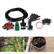 18M DIY Micro Spray Drip Irrigation System with Water Dropper