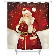 180 x 180cm Santa Claus 3D Printing Shower Curtain