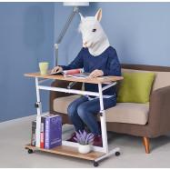 Portable Laptop Cart Rolling Table Tiltable Mobile Stand Desk