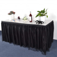 Tulle Table Skirt Tablecloth for Party Wedding Home Decoration
