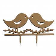 Romantic Lover Bird Wedding Cake Topper Inserted Card Decoration