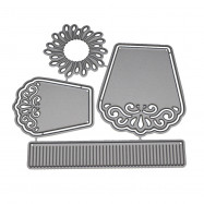 Carved Petal Flower Pattern Metal Stencil Mould DIY Carbon Steel Embossing Plate Cutting Die