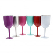 Double-Layer Warm-keeping Stainless Steel Goblet Wine Cup
