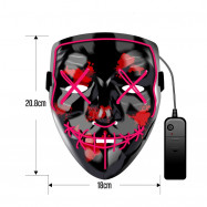 Christmas Mask EL LED Light up Purge Mask for Festival Cosplay Party