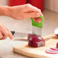 Onion Vegetables Slicer Cutting Aid Holder Guide Slicing Cutter Safe Fork