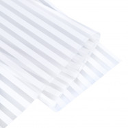 Removable Window Bathroom Showcase Film Cover Wallpaper Decoration - White Stripe Pattern