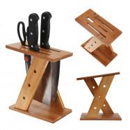 Kitchen Bamboo Tool Holder Knife Storage Rack