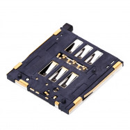 5Pcs / Set Black SIM Card Reader Slot Socket Tray Connector Holder Repalcements for iPhone 6s