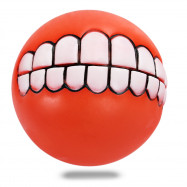 Funny Bucktooth Pattern Ball Pet Dog Cat Squeaky Vinyl Toy