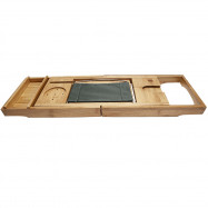 Extendable Bamboo Bathtub Caddy Tray