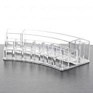 Transparence Multiple Square Lattice Desktop Makeup Case Storage Box