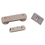 5 Sets Power Volume Mute  Side Button Repalcements for iPhone 5S