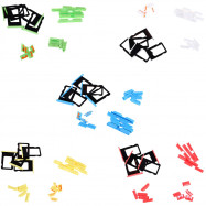 5 Sets SIM Card Tray Slot Power Volumn Mute Side Button Switch Replacements for iPhone 5C