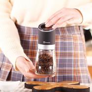 Manual Pepper Grinder Pepper Black Pepper Pepper Grinder Kitchen Glass Seasoning Bottle