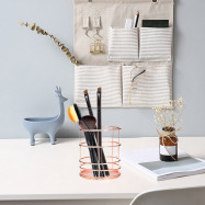 Wire Metal Desktop Pencil Holder for Office School Home