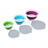 3PCS SUMSHUN Collapsible Sealed Storage Bowls for Traveling