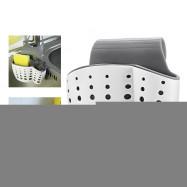 Adjustable Double Layer Sponge Rack Snap Button Holder