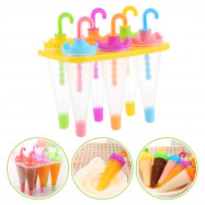 6pcs DIY Umbrella Shape Ice Cream Making Mold