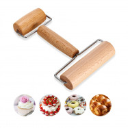 T Type Baking Stick Wooden Rolling Pin Cooking Tool