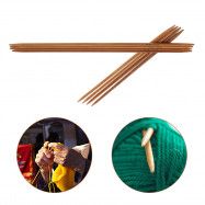 11 Different Sizes Carbonized Bamboo Knitting Needles Set