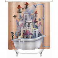 Mildew Resistant Anti-bacterial Shower Curtain 180 x 180cm