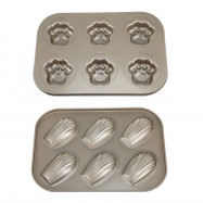6 Hole Carbon Steel Non-stick Cake Mold