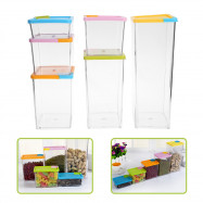 Cereal Grain Crisper Container Kitchen Food Storage Box 6pcs