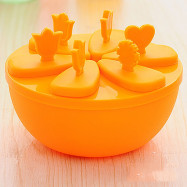 DIHE Round Plastic Ice Cream Tool Popsicle Maker  Kitchen DIY Mold