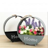 Living Room Decor Wall Shelf Iron Art Flower Basket 1PC