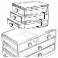 TODO Stages Cosmetic Acrylic Organizer Makeup Jewelry Case