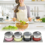 Stainless Steel Magnetic Seasoning Bottle 4PCS