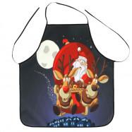Christmas Santa Sleigh Print Cooking Apron