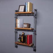 Three-layer Iron Pipe Storage Rack Wall Decoration