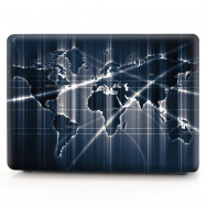 Computer Shell Laptop Case Keyboard Film for MacBook Air 13.3 inch 3D Aurora World Map