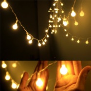 10M 100 LEDs Decorative String Light Round Ball Shaped Holiday Party Light