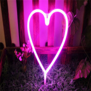 Novelty Heart Shaped Night Light LED Wall Hanging for Home Wedding Decor