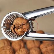 Nut Cracker Metal Walnut Almond Pecan Sheller Pliers Hard Core Opener with Soft Rubber Grips