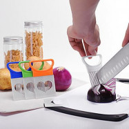 Kitchen Slicer Cut Onion Meat Holder Fork Tomato Vegetable Fruit Cutter