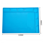 High Quality Blue Silicone Watch Repair Pad,Non-Slip Soft 32*24cm Soft Repair Mat Cushion Tools for Watchmakers