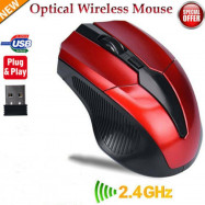 2.4GHz Cordless Wireless Optical Mouse Mice Laptop PC Computer + USB Receiver s