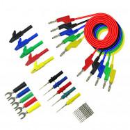 Stackable Banana Plug Copper Test Lead Kit for Multimeter Automotive