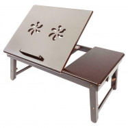 Folding Double Flower Style Laptop Table Lap Desk Bed Portable Tray Stand Holder