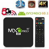4K TV Box Android 10.1 Smart HD 3D Dual 2.4G/5G WiFi Quad Core Home Media Player