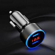 Dual Ports 3.1A USB Car Phone Charger Lighter Digital LED Voltmeter Charging
