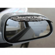 2x Black Car Rear View Side Mirror Rain Board Eyebrow Guard Sun Visor Accessory